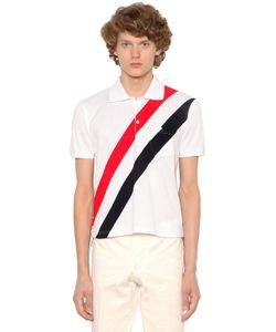 Thom Browne | Хлопковая Рубашка Поло С Полосками