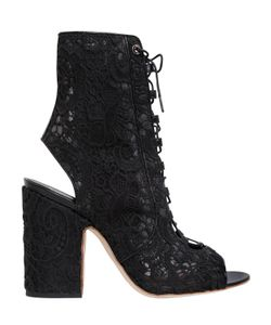 Laurence Dacade | 100mm Nelly Lace-Up Open Toe Boots