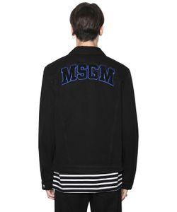 MSGM | Куртка Из Деним С Логотипом