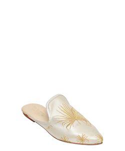GIA COUTURE | Атласные Туфли-Мюли С Вышивкой 10mm