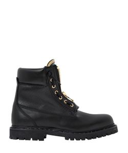 Balmain | Кожаные Ботинки Taiga С Перфорацией 20Мм