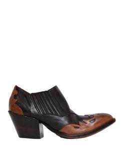 Elena Iachi | Кожаные Ботинки В Ковбойском Стиле 50mm