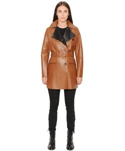 Belstaff | Dyed Nappa Leather Trench Coat