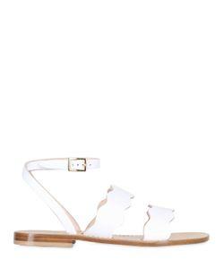 Capri Positano | 10mm Sirena Scalloped Leather Sandals