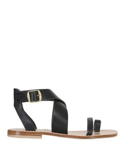 Capri Positano | 10mm Meta Leather Sandals