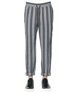 BERNARDO GIUSTI | Striped Cotton Seersucker Pants