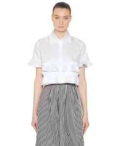 COPURS | Рубашка Boxy Из Поплин С Оборками