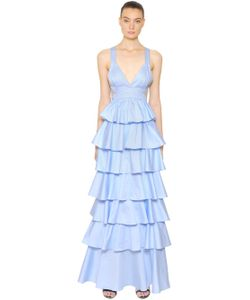 COPURS | Платье Из Поплин С Многоярусными Оборками