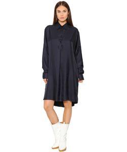 Maison Margiela   Рубашка-Платье Из Шёлковой Саржи
