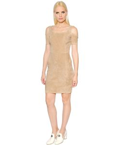 Drome | Cut Out Shoulder Stretch Suede Dress