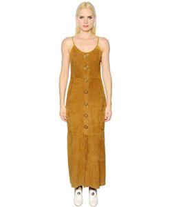 Drome | Button Up Suede Dress