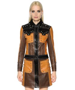 Drome | Cropped Studded Leather Biker Jacket