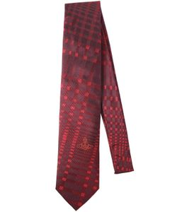 Vivienne Westwood | Галстук Из Шёлкового Жаккарда В Клетку 85cm