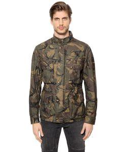 Belstaff   Tyefield Waxed Camo Cotton Field Jacket