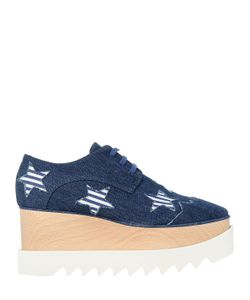 Stella Mccartney | 75mm Elyse Raw Cut Denim Wedges