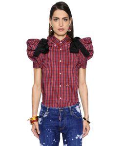 Dsquared2 | Рубашка Из Стретч Ткани В Клетку С Бантами Из Фай