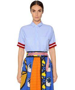 Stella Jean | Рубашка Из Хлопкового Поплин В Полоску