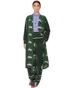 Stella Jean | Пальто Из Лёгкого Шёлкового Крепдешина С Принтом