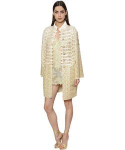 Ermanno Scervino | Пальто Из Тюля С Вышивкой И Эффектом Каракуля