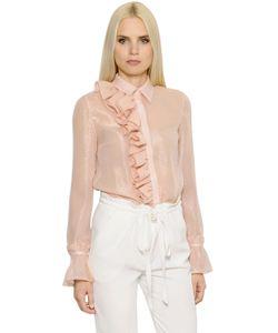 INGIE | Рубашка Из Шёлкового Жоржета С Люрексом