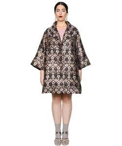 Marina Rinaldi | Lurex Jacquard Coat