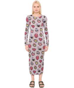 House Of Holland | Платье Из Хлопкового Джерси С Принтом Сердце