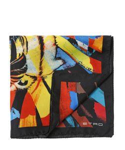 Etro | Платок Из Шёлкового Атласа С Принтом Тигр