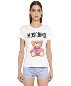 Moschino | Футболка Из Хлопкового Джерси С Принтом