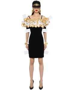 Moschino | Платье Из Крепа С Принтом