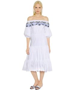 Peter Pilotto | Платье Из Хлопкового Поплин