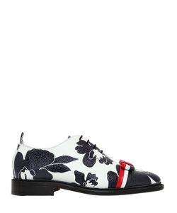 Thom Browne | Кожаные Туфли С Цветочным Принтом И Бантом 20mm