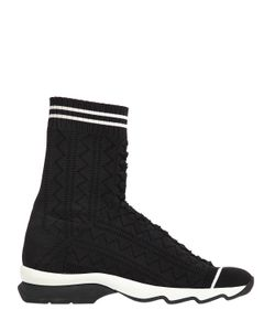 Fendi | 30mm Stretch Knit Pull On Sneakers