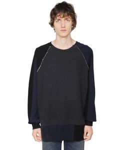 Maison Margiela   Raw Cut Patchwork Cotton Sweatshirt