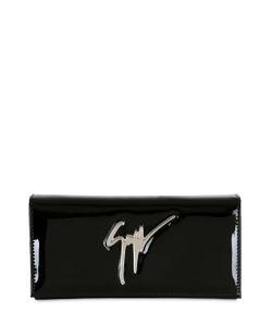 Giuseppe Zanotti Design | Клатч Из Лакированной Кожи С Логотипом