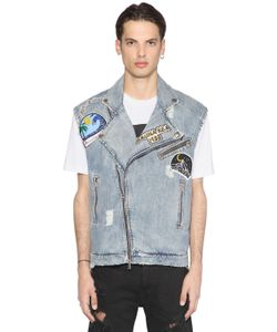 MAUNA KEA | Patched Cotton Denim Vest