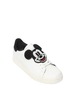 MOA MASTER OF ARTS | Mickey Mouse Patch Leather Sneakers