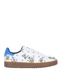 MOA MASTER OF ARTS | Donald Duck Embroidered Leather Sneakers