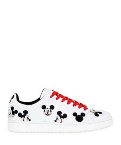 MOA MASTER OF ARTS | Mickey Embroidered Leather Sneakers