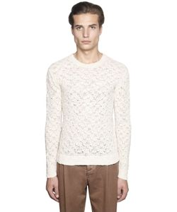 GABRIELE PASINI | Cotton Blend Lace Knit Sweater