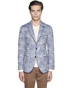 GABRIELE PASINI | Stretch Cotton Jacquard Jacket
