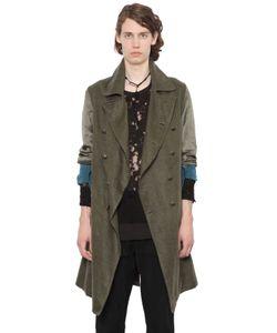 Ann Demeulemeester | Двубортное Пальто Из Вощёного Льна