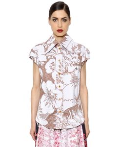 Vivienne Westwood | Рубашка Из Поплин С Цветочным Принтом
