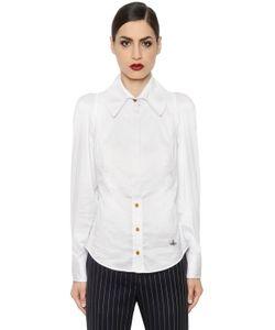 Vivienne Westwood | Рубашка Из Стретч Поплин С Логотипом