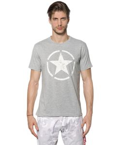 Alpha Industries | Star Printed Cotton Jersey T-Shirt