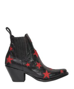 Mexicana | 60mm Stars Leather Ankle Boots