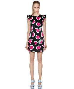 Love Moschino | Платье Из Хлопкового Атласа С Принтом Арбуз