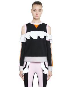 No Ka 'Oi   Ruffled Paneled Cotton Sweatshirt