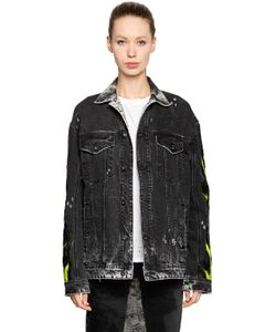 Filles A Papa | Sequined Flame Washed Denim Jacket