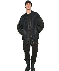 SKINGRAFT | Куртка-Бомбер Oversized Из Нейлона