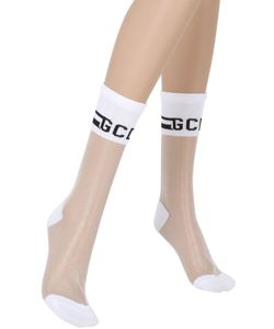 Gcds | Sheer Knit Socks With Logo Detail